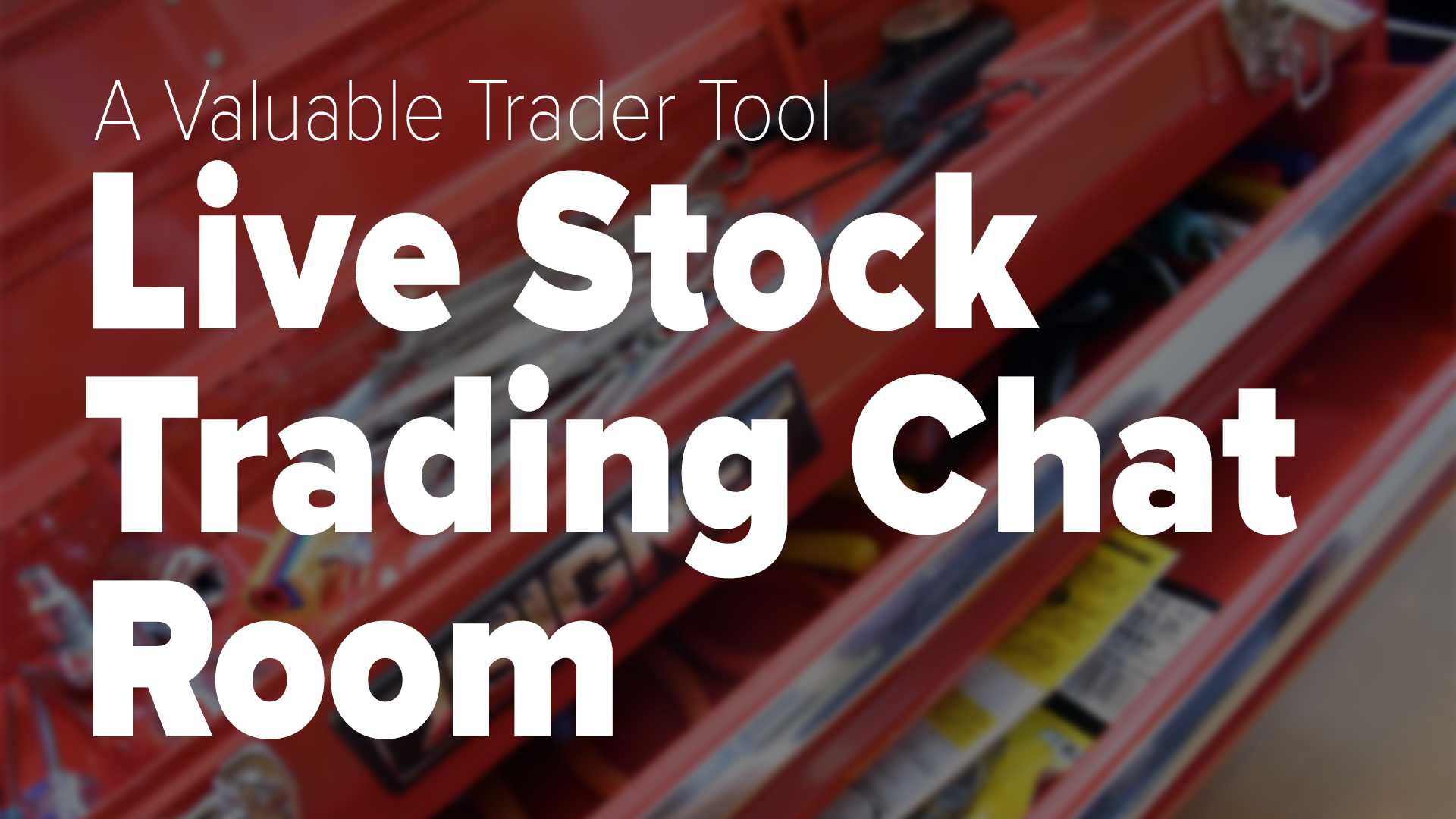 a valuable trader tool live stock trading chat room