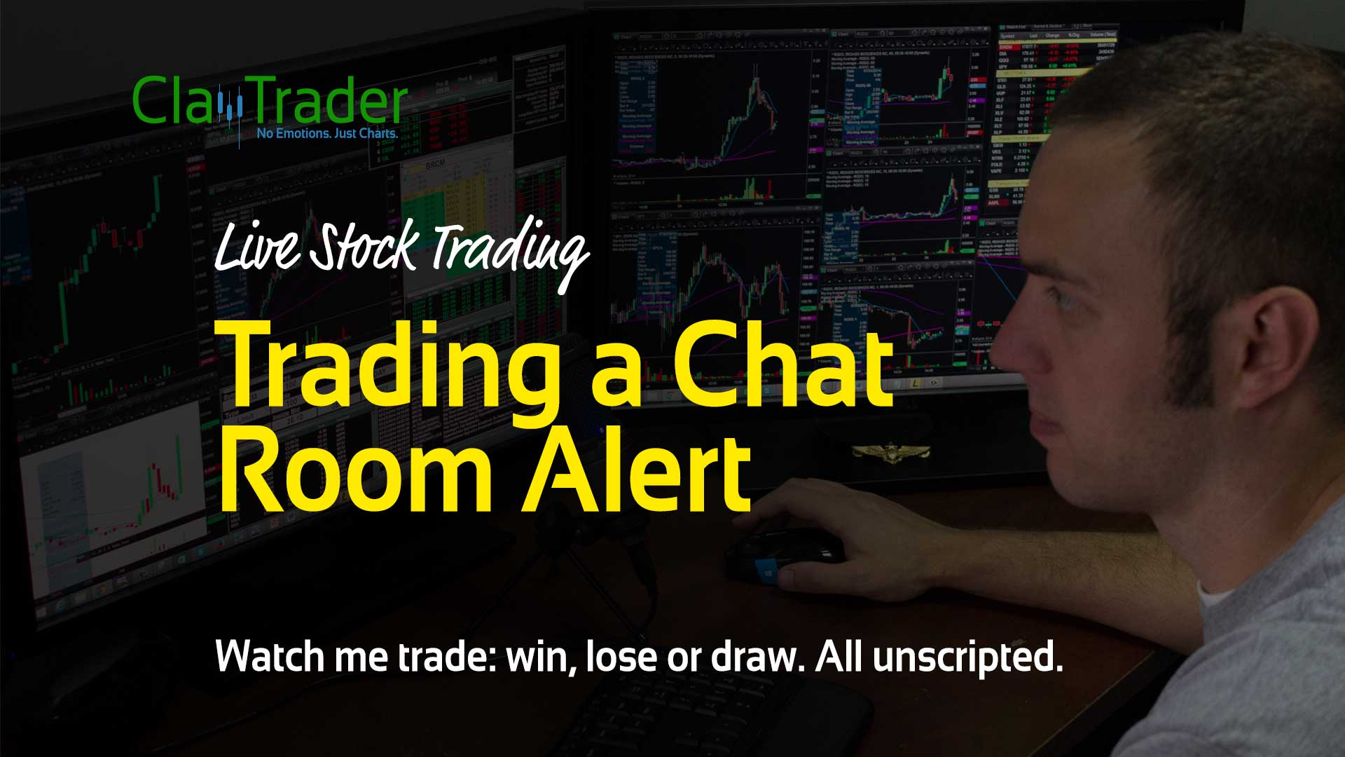 Live Stock Trades - Trading a Chat Room Alert