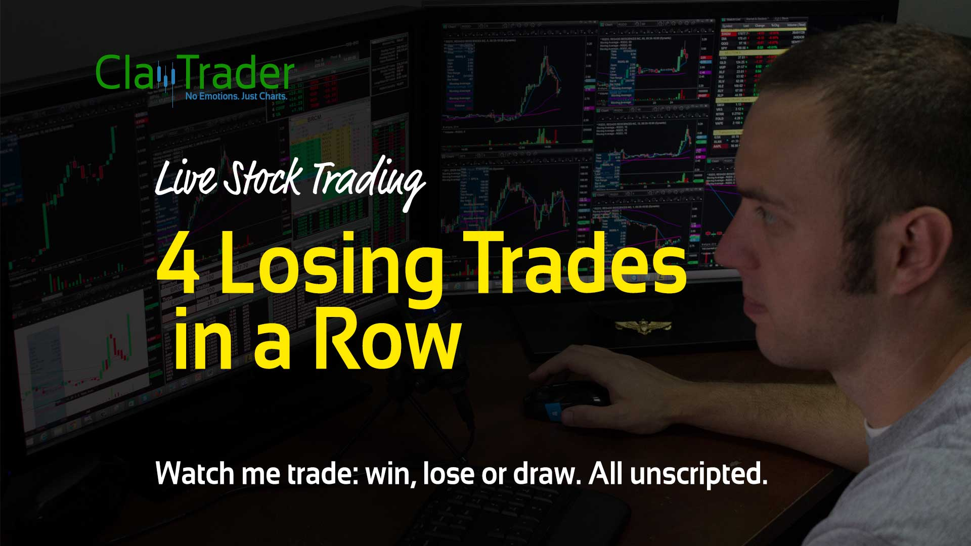 Live Stock Trades - 4 Losing Trades in a Row