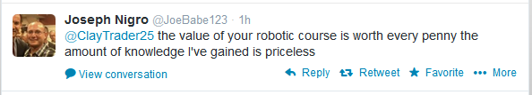 @ClayTrader25 the value of your robotic course is worth every penny the amount of knowledge I've gained is priceless
