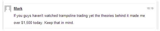 If you guys haven't watched trampoline trading yet the theories behind it made me over $1,500 today. Keep that in mind.