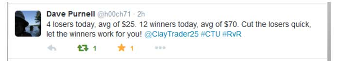 4 losers today, avg of $25. 12 winners today, avg of $70. Cut the losers quick, let the winners work for you!