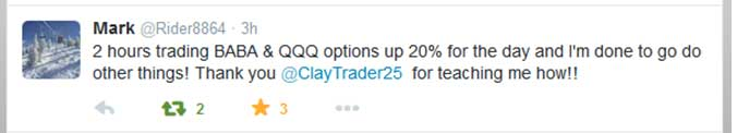 2 hours trading BABA & QQQ options up 20% for the day and I'm done to go do other things! Thank you for teaching me how!