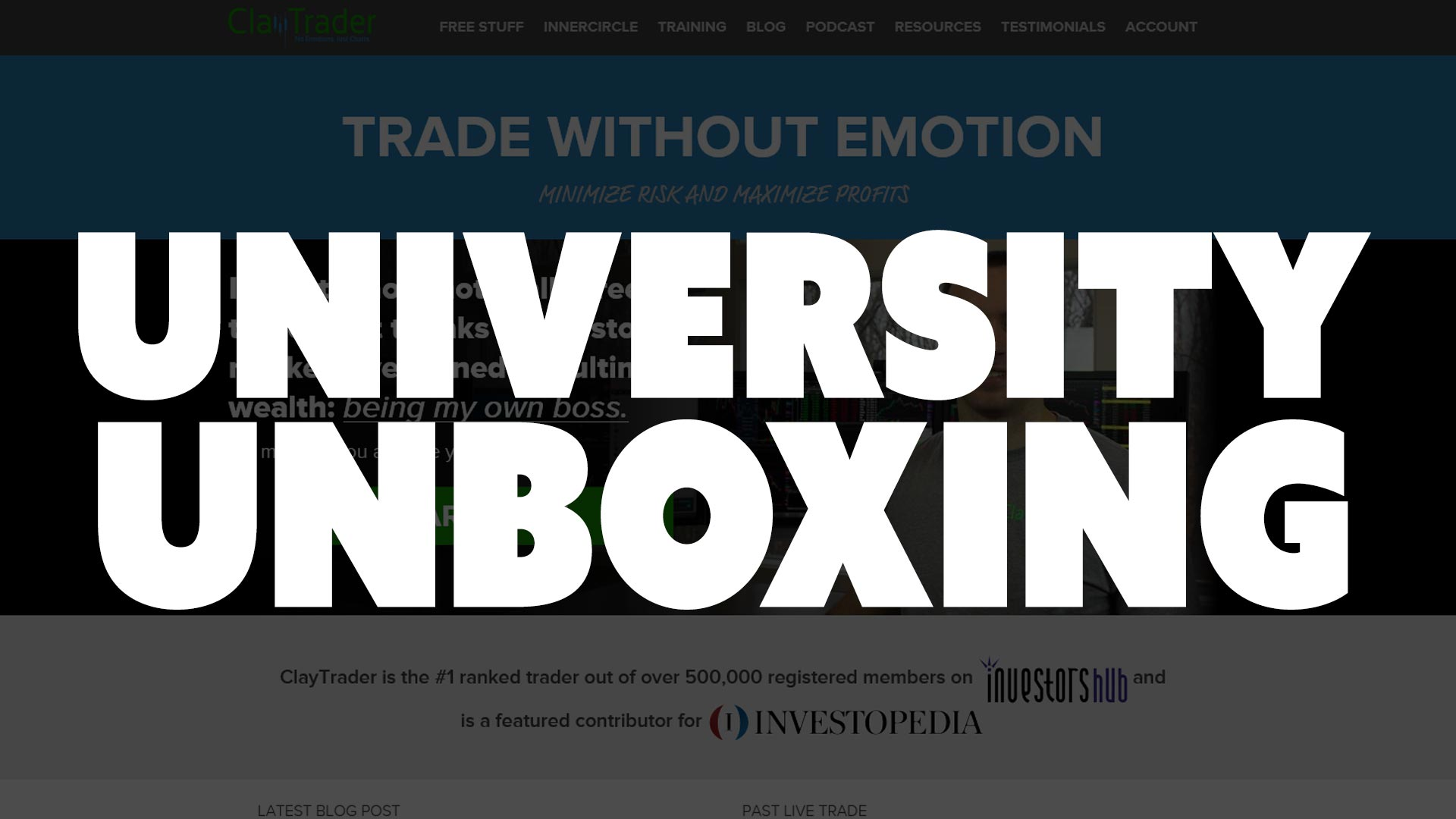 """ClayTrader.com University Package """"Unboxing"""""""