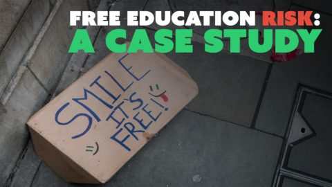 Free Education Risk: A Case Study
