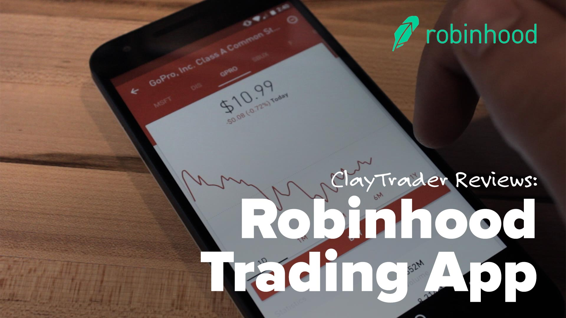 Robinhood Commission-Free Investing Inches