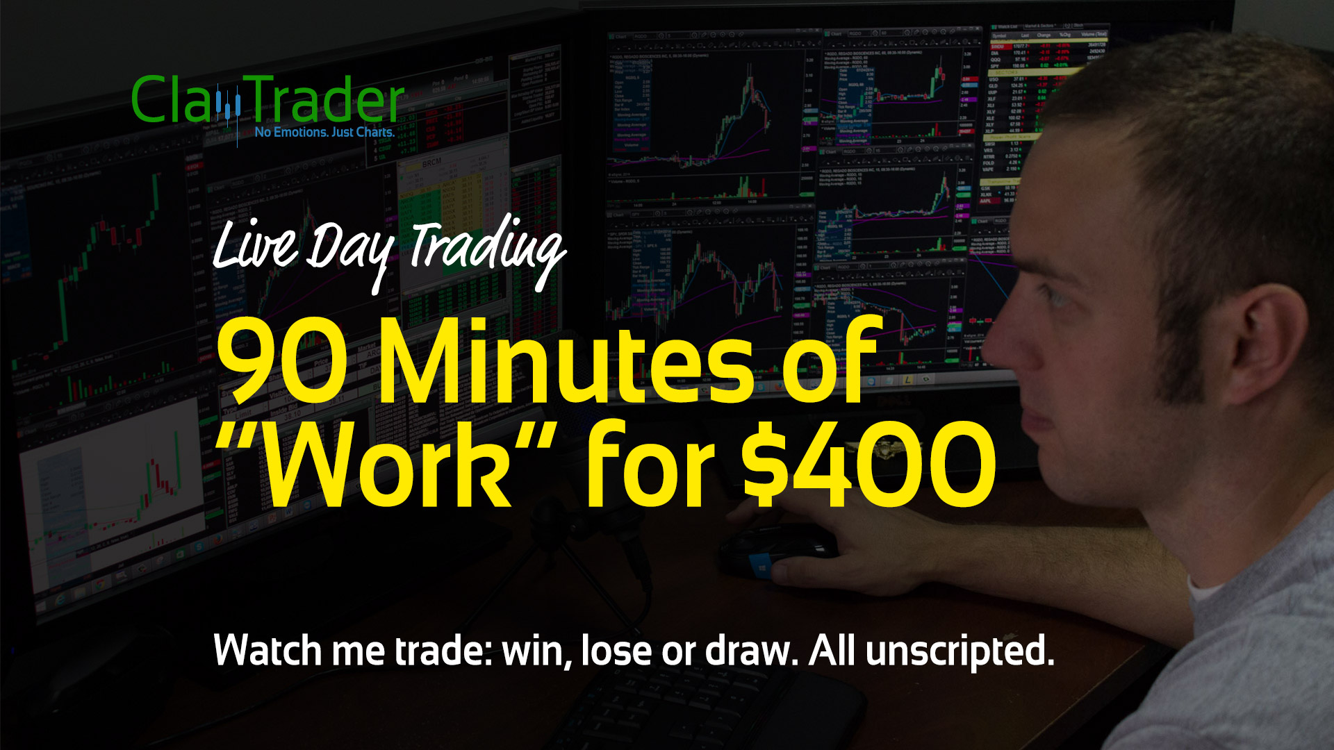 """Live Day Trading – 90 Minutes of """"Work"""" for $400"""