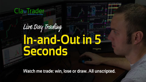 Live Day Trading – In-and-Out in 5 Seconds