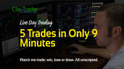 Live Day Trading – 5 Trades in Only 9 Minutes