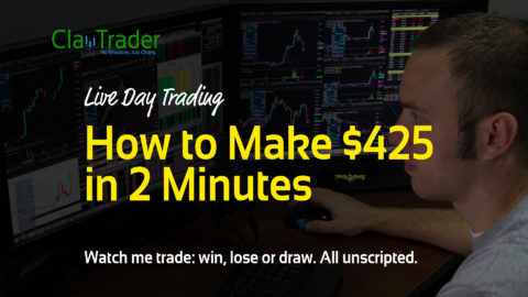 Live Day Trading – How to Make $425 in 2 Minutes