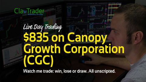 Live Day Trading – $835 on Canopy Growth Corporation (CGC)