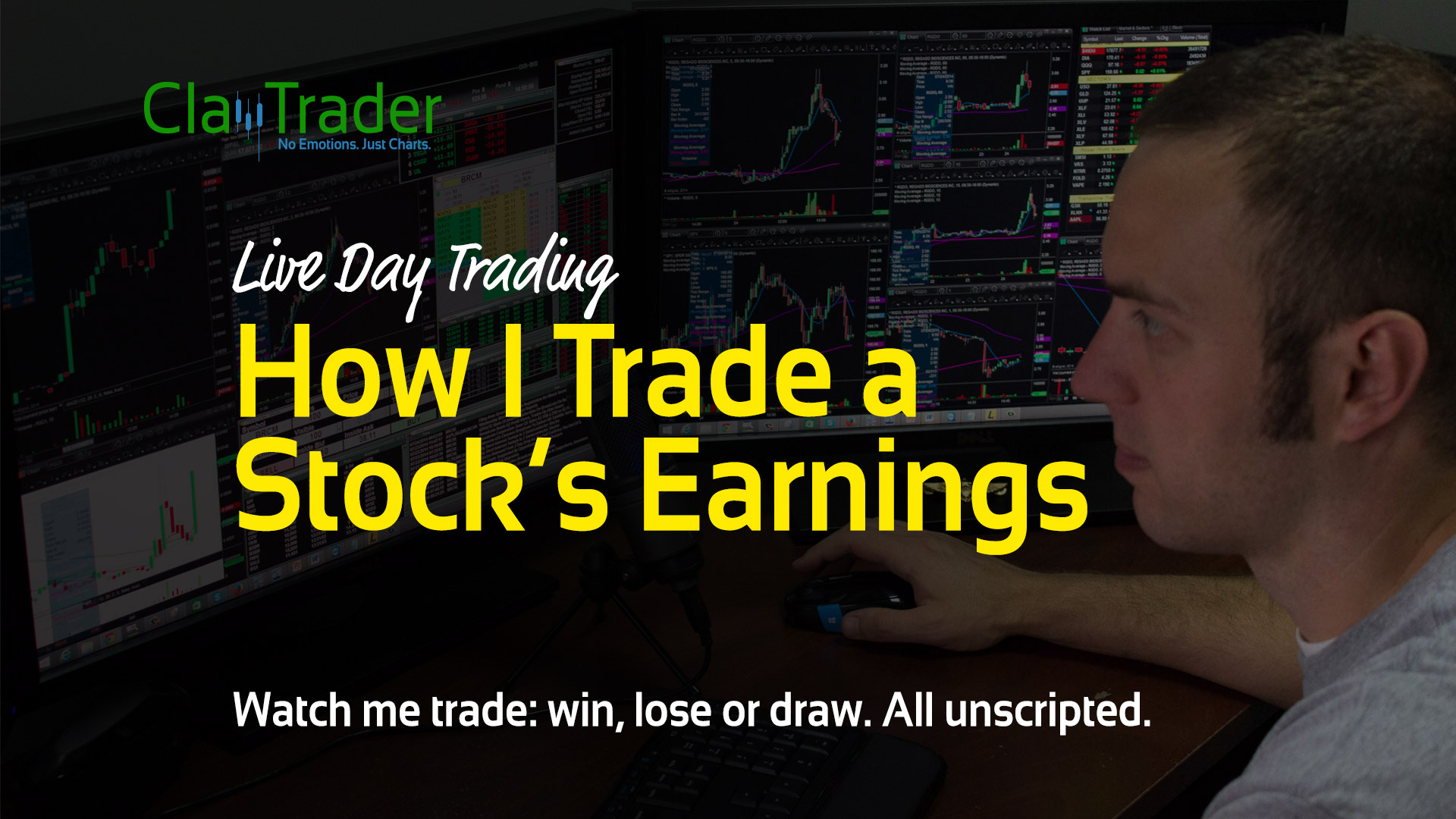 Live Day Trading – How I Trade a Stock's Earnings