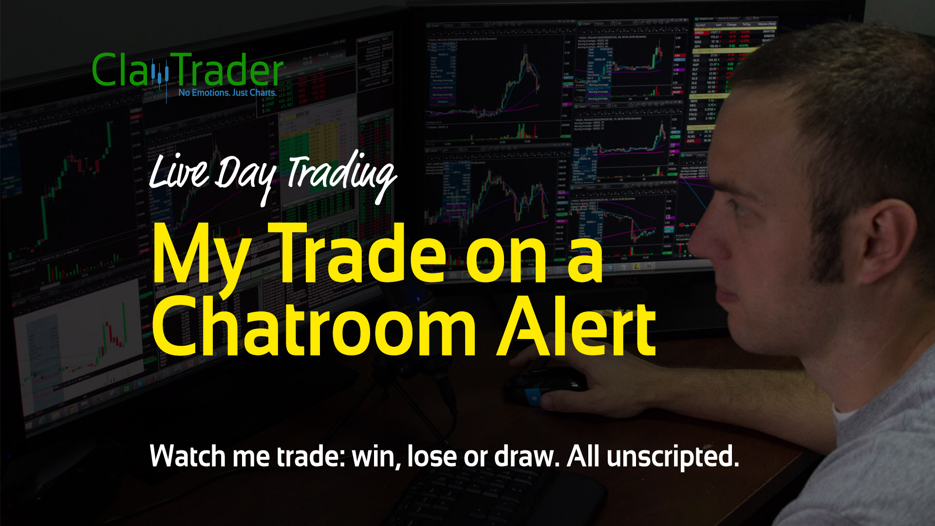 Live Day Trading – My Trade on a Chatroom Alert