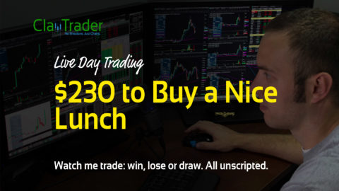 Live Day Trading - $230 to Buy a Nice Lunch