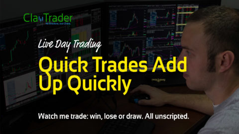 Live Day Trading - Quick Trades Add Up Quickly