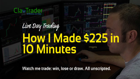 Live Day Trading - How I Made $225 in 10 Minutes