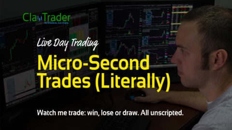 Live Day Trading: Micro-Second Trades (Literally)
