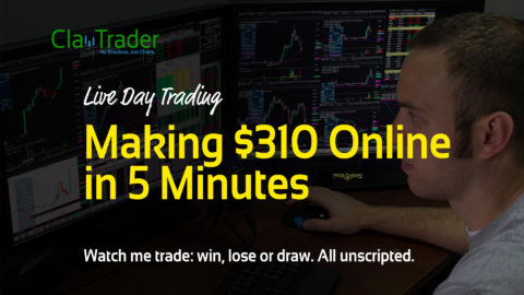 Live Day Trading - Making $310 Online in 5 Minutes