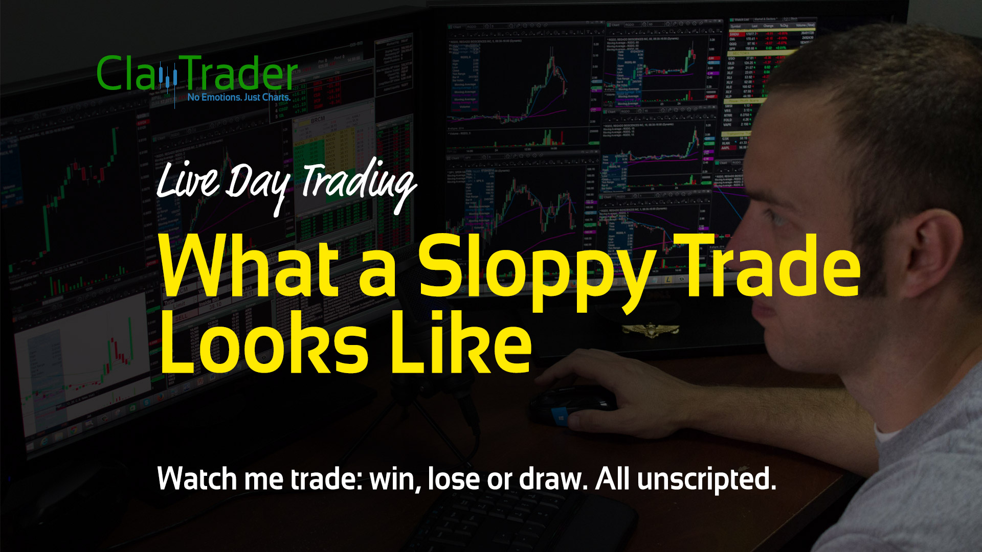 Live Day Trading - What a Sloppy Trade Looks Like
