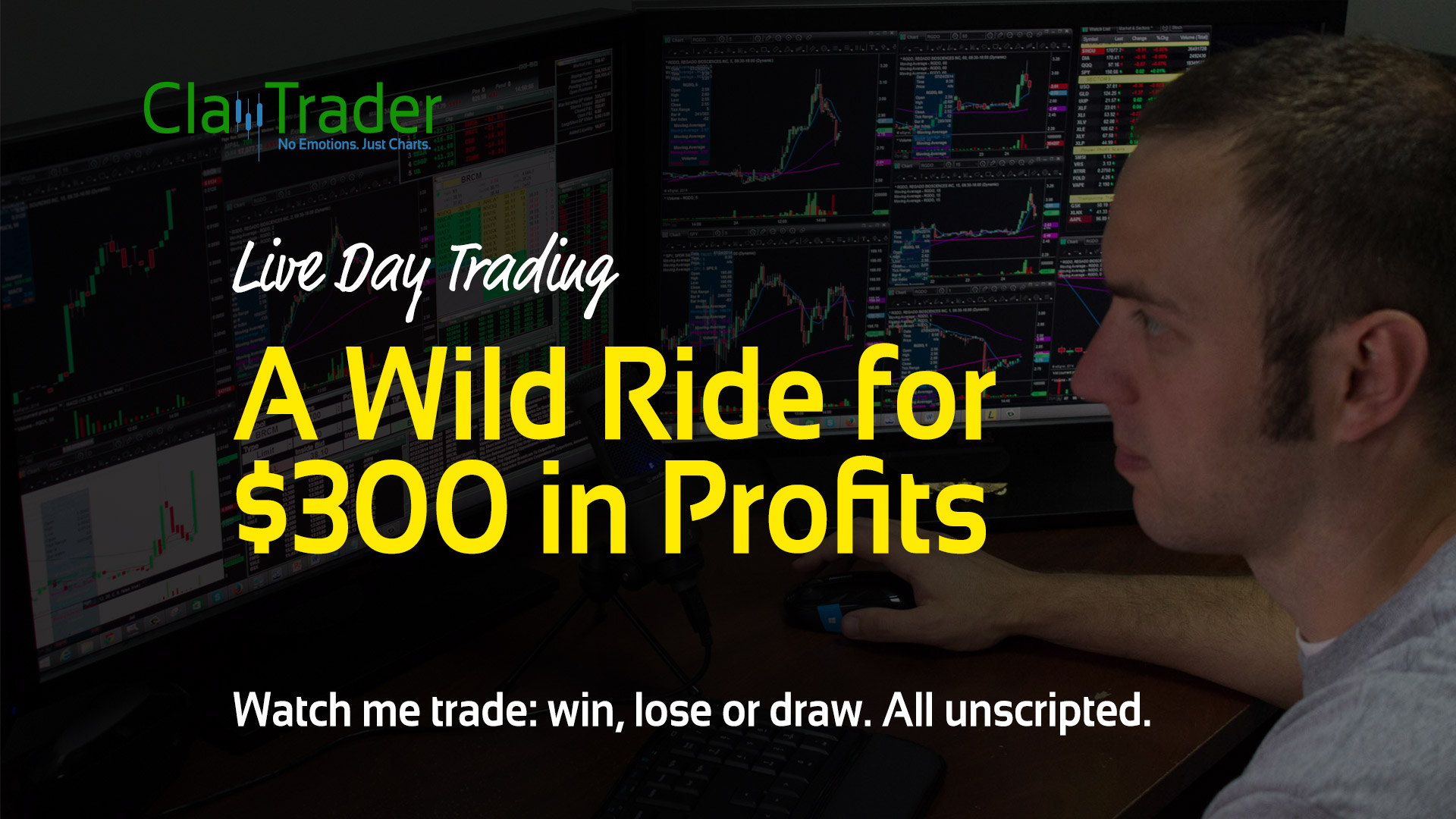 Live Day Trading - A Wild Ride for $300 in Profits