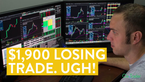 [LIVE] Day Trading   $1,900 Losing Trade. Ugh! (Day Trader Truths...)