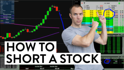 How to Short a Stock - Watch Me Do It! (Day Trading For Beginners)