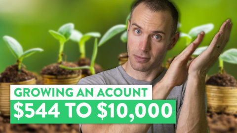 Grow A Small Trading Account | $554 to Over $10,000 [Actual Case Study]