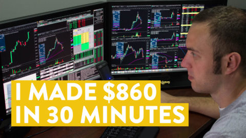 [LIVE] Day Trading | I Made $860 in 30 Minutes on a Monday Morning!