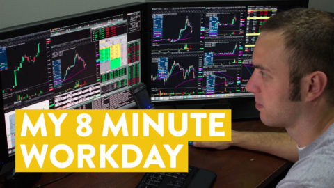 [LIVE] Day Trading | My 8 Minute Workday (side hustle power!)