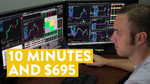 [LIVE] Day Trading | 10 Minutes and $695 Using Options