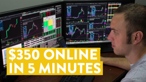 [LIVE] Day Trading | $350 Online in 5 Minutes - Possible?