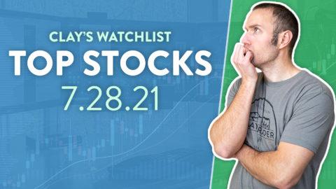 Top 10 Stocks For July 28, 2021 ( $TSLA, $AMC, $NIO, and more! )