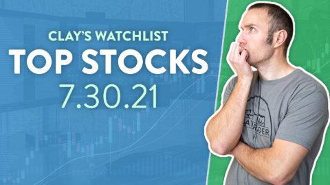 Top 10 Stocks For July 30, 2021 ( $TSLA, $AMC, $HOOD, and more! )
