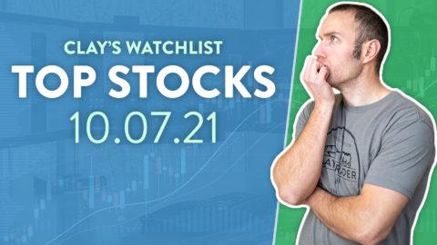 Top 10 Stocks For October 07, 2021 ( $PLTR, $VYGR, $AMC, and more! )